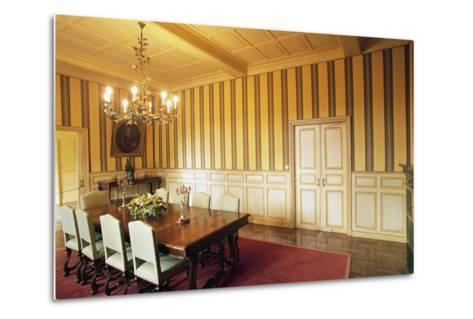 Room in Chateau of Marqueyssac, Vezac, Aquitaine, France--Metal Print
