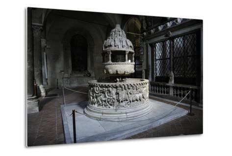 Baptismal Font, 12th Century, Basilica of San Frediano, Lucca--Metal Print