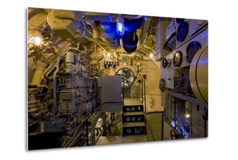 The Electric Motor Room on the Captured German Submarine U505--Metal Print