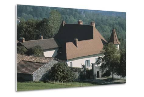 High Angle View of a Castle, Le Fayet Castle, Rhone-Alpes, France--Metal Print