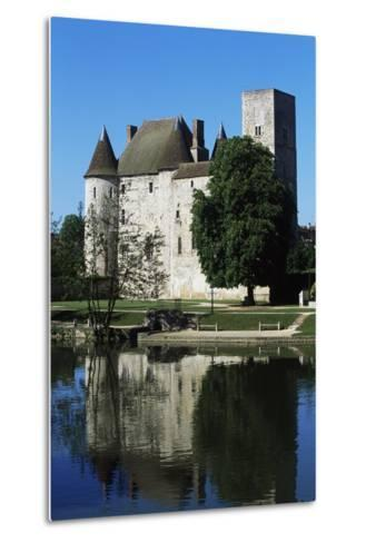 Chateau of Nemours Seen from Loing River, Ile-De-France, France--Metal Print