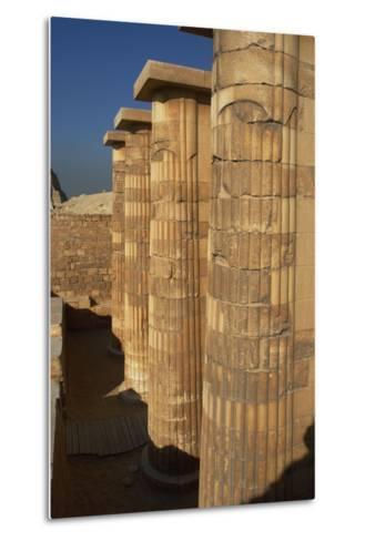 Egypt. Saqqara, Djoser Pyramid, Entrance with Fasciculate Columns--Metal Print