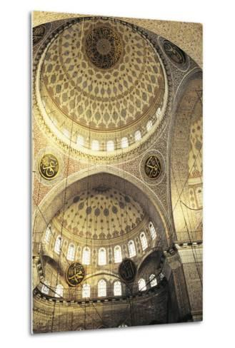 Interior of a Mosque, Istanbul, Turkey--Metal Print