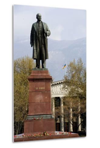 Statue of Lenin (1870-1924), Lenin Square, Yalta, Crimea, Ukraine--Metal Print