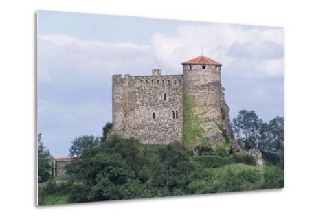 Chateau of Busseol, Founded in 12th Century, Auvergne, France--Metal Print