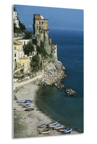 Tower of Cetara, 16th Century, Amalfi Coast, Campania, Italy--Metal Print