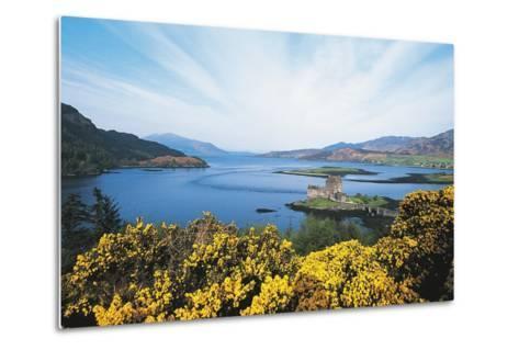 Loch Duich and Eilean Donan Castle, Scotland, UK--Metal Print