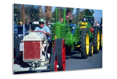 Tractors in Parade, Carrot & BBQ Cook-Off, Holtville, California--Metal Print