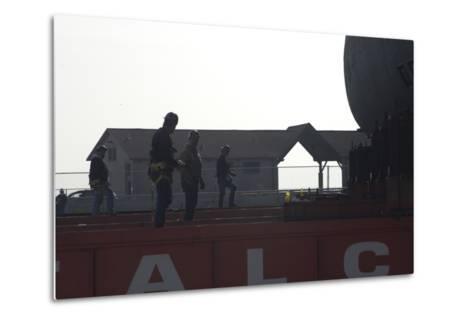 The Move of the Captured German Submarine U505--Metal Print