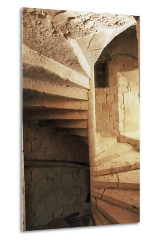 Spiral Staircase, Chateau of Flamarens, Midi-Pyrenees, France--Metal Print