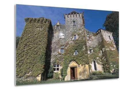 Low Angle View of a Castle, Castle of Faye, Poitou-Charentes, France--Metal Print