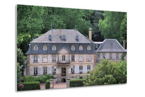 Facade of a Building, Hombourg-Haut, Lorraine, France--Metal Print
