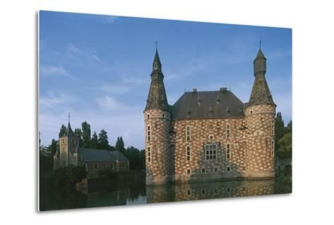 Low Angle View of a Castle, Jehay Castle, Wallonia, Belgium--Metal Print