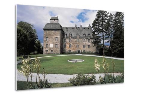 Facade of a Castle, Conros Castle, Auvergne, France--Metal Print