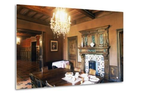 Dining Room of Chateau of Grezan, Languedoc-Roussillon, France--Metal Print