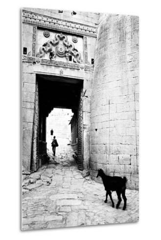 Goat and Man, Fort Entrance Gate, Jaisalmer, Rajasthan, India, 1984--Metal Print