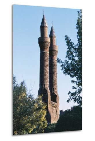 Twin Minaret Madrasa, Sivas, Central Anatolia, Turkey--Metal Print