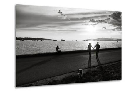 Figure in the Distance in Landscape-Sharon Wish-Metal Print