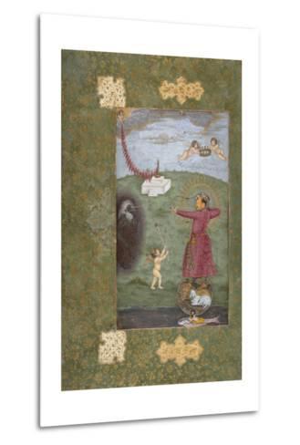 Emperor Jahangir Triumphing over Poverty--Metal Print