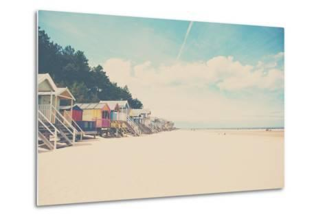 Beach Huts in England-Laura Evans-Metal Print