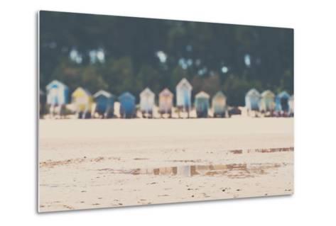 Beach Huts in England-Laura Evans-Metal Print