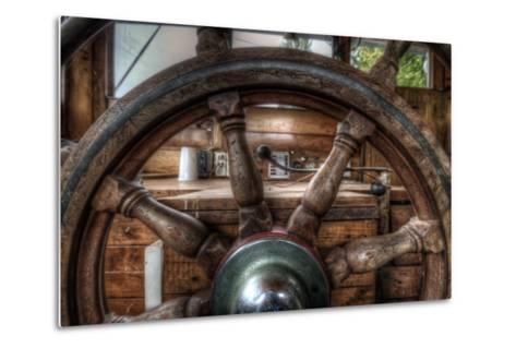 Old Barge-Nathan Wright-Metal Print