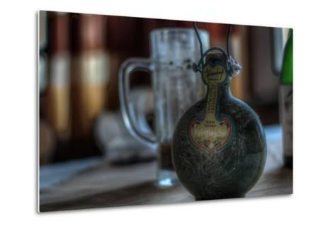 Old Bottle of Schnaps-Nathan Wright-Metal Print
