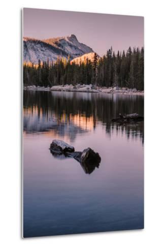 Peaceful Morning Reflection Yosemite Tioga Pass Tenaya Lake-Vincent James-Metal Print