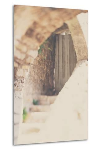 French Building with Doorway-Laura Evans-Metal Print