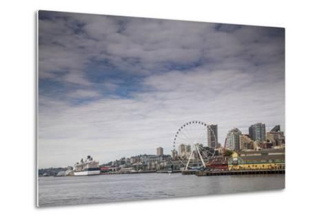 The Seattle Skyline on a Sunny Day-Michael Hanson-Metal Print