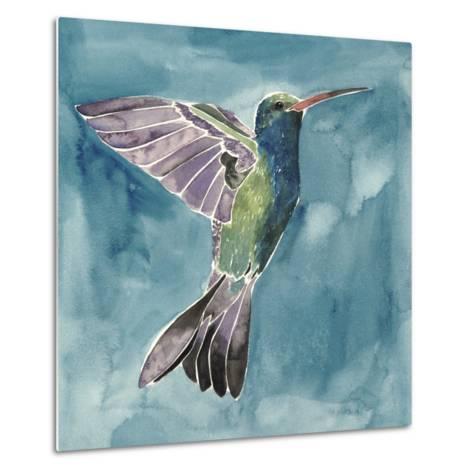 Watercolor Hummingbird I-Grace Popp-Metal Print