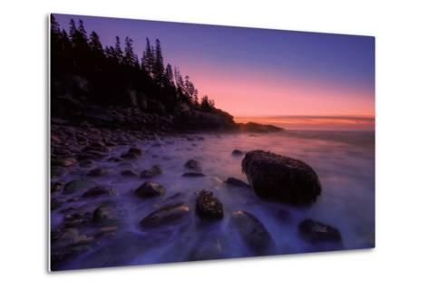 Atlantic Coast Sunrise, Maine, Acadia National Park-Vincent James-Metal Print