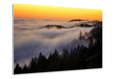 Mount Tamalpais After Sunset, Northern California-Vincent James-Metal Print