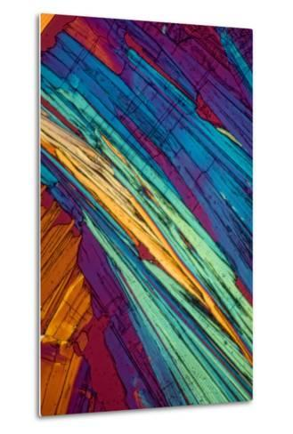 A Photomicrograph, a Picture Taken Through a Microscope, of Benzoic Acid-Cesare Naldi-Metal Print