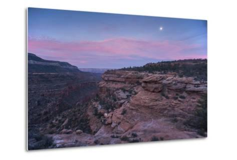 Sunrise at Bedrock Canyon Below Powell Plateau and the North Rim of Grand Canyon National Park-Bill Hatcher-Metal Print