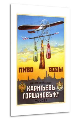 Beer and Waters - Bottled Drinks from Karneyev-Gorshanov and Co.--Metal Print