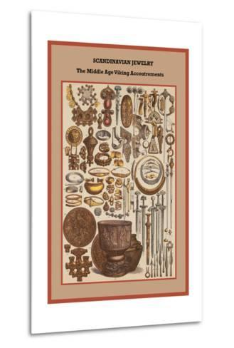 Scandinavian Jewelry the Middle Age Viking Accoutrements-Friedrich Hottenroth-Metal Print