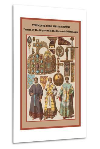 Vestments, Orbs, Hilts and Crowns in the Germanic Middle Ages-Friedrich Hottenroth-Metal Print