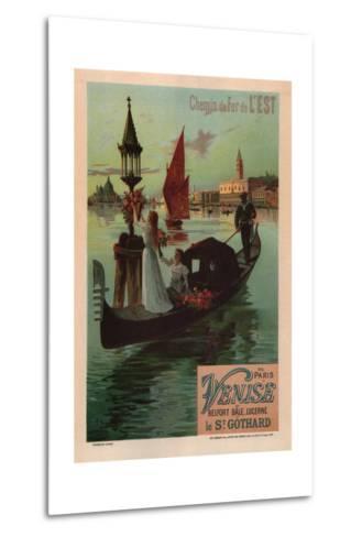 Eastern Railroad Line (1890)-Friedrich Hugo D'Alesi-Metal Print