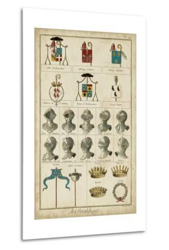 Art Heraldique I-Vintage Collection-Metal Print