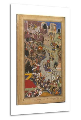 The Fall of the Rajasthani Fortress of Chitor--Metal Print