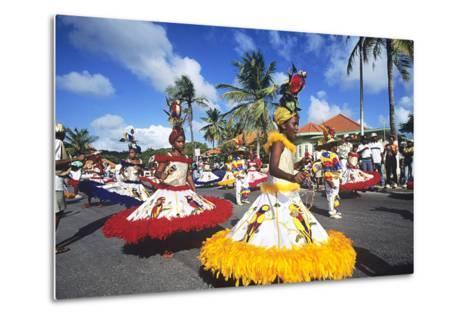 Children's Parade, Mardi Gras, Curacao, Caribbean--Metal Print