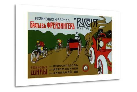 Freizinger Brothers Rubber Plant in Riga for Bicycle and Car Tires--Metal Print