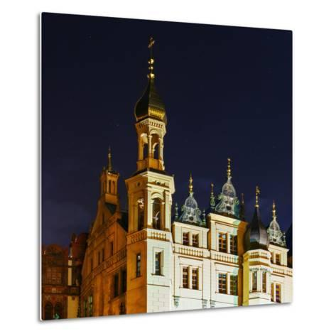 The Historic Schwerin Palace at Night-Babak Tafreshi-Metal Print