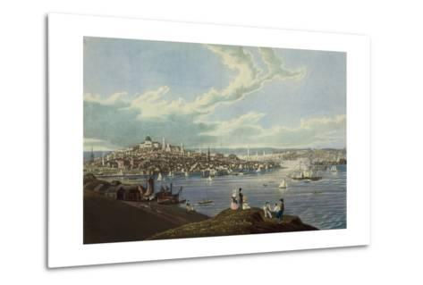 View of the City of Boston from Dorchester Heights-Robert Havell-Metal Print
