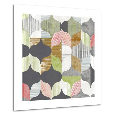 Arabesque Shapes I-Jennifer Goldberger-Metal Print