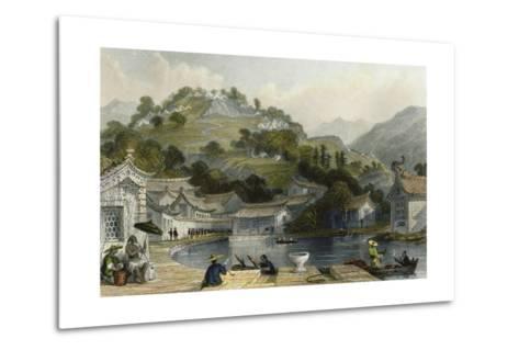 British Encampment Irgao Shan-Thomas Allom-Metal Print