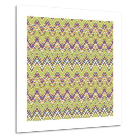 Chevron Waves V-Katia Hoffman-Metal Print