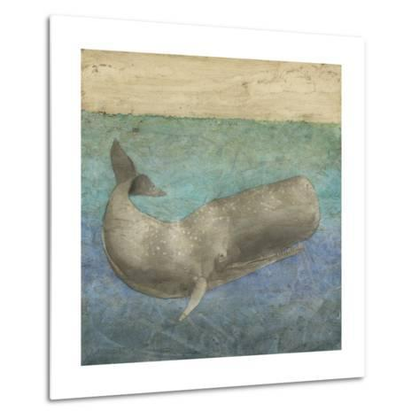Diving Whale II-Megan Meagher-Metal Print