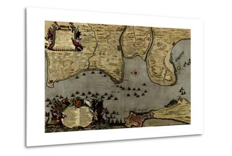 Toulon, France Harbor and Defenses - 1700-Anna Beeck-Metal Print
